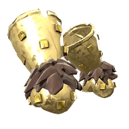 Gold Barbarian War Gloves