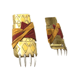 Gold Bear Claw War Gloves