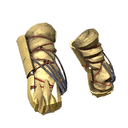 Gold Ice Grinder War Gloves