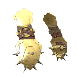 Gold Spike Turtle War Gloves